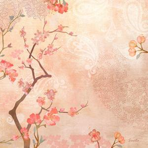 Sweet Cherry Blossoms VI by Evelia Designs