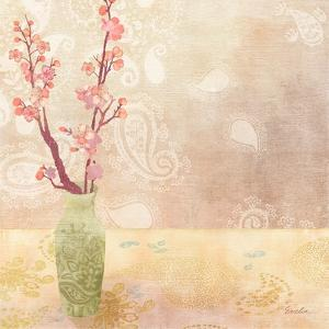 Vase of Cherry Blossoms I by Evelia Designs