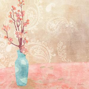 Vase of Cherry Blossoms II by Evelia Designs