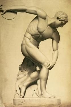 Discus Thrower, Drawing of a Classical Sculpture, C.1874 by Evelyn De Morgan