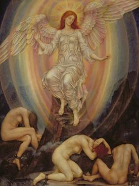 The Light Shineth in Darkness and the Darkness Comprehendeth it Not, 1906 by Evelyn De Morgan