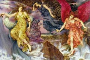 The Storm Spirits, 1900 by Evelyn De Morgan