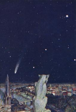 Halley's Comet Seen from Notre Dame, Paris by Evelyn Paul
