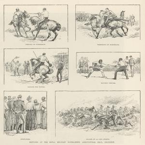 Sketches at the Royal Military Tournament, Agricultural Hall, Islington by Evelyn Stuart Hardy