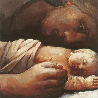 Mother and Child Resting, 1996 by Evelyn Williams