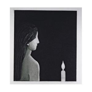 The Candle, 1976 by Evelyn Williams