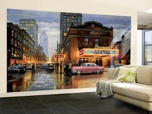 Evening At The Paramount Huge Mural Art Print Poster