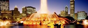 Evening, Buckingham Fountain, Chicago, Illinois, USA