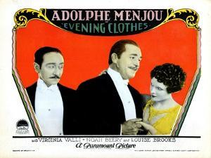 Evening Clothes, Adolphe Menjou, Noah Beery, Louise Brooks, 1927