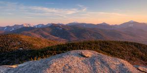 Evening Light on the Adirondack High Peaks, Adirondack Mountains, Adirondack Park