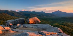 Evening Light on the Balanced Rocks on Pitchoff Mountain, Adirondack Park, New York State, USA