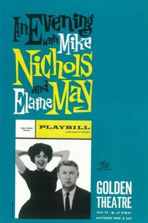 Evening with Mike Nichols and Elaine May - Broadway Poster , 1960