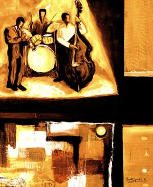 Musical Trio I by Everett Spruill
