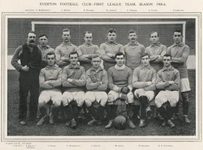 Everton Everton Football Club 1st Team 1905-1906 Season