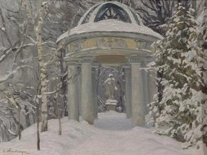 Gazebo at the Naydenov Estate, 1923 by Evgeni Ivanovich Stolitsa