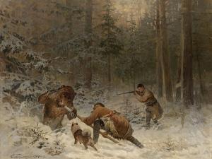 Bear Hunt by Evgeny Alexandrovich Tichmenev