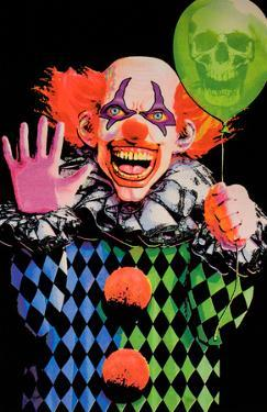 Evil Clown Blacklight Poster