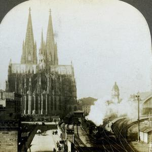 Cologne Cathedral from a Railway Bridge, Cologne, Germany by EW Kelley