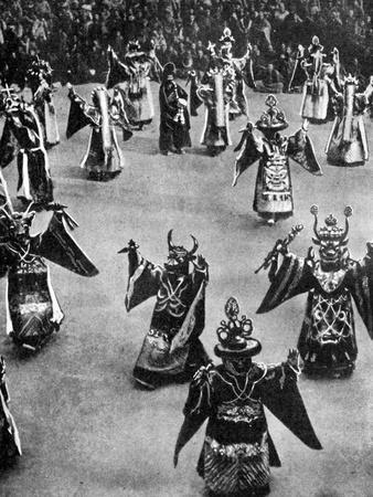 Masked Dancers, Tibet, 1936