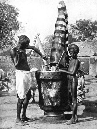 Sesame Mill Painted in Honour of a Hindu Goddess, India, 1936