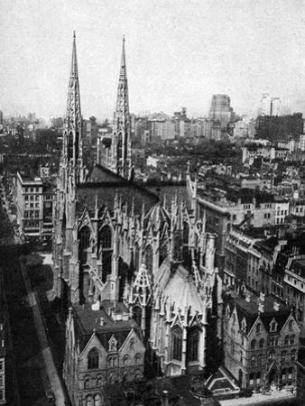 St Patrick's Cathedral, New York City, USA, C1930S by Ewing Galloway