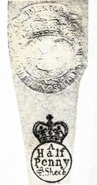 Example of Stamps Forced on the Colonies under the Stamp Act Before the American Revolution