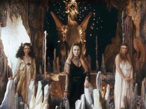 Excalibur by John Boorman with Cherie Lunghi (g, Guenievre), Helen Mirren (c, fee Morgane), 1981 (p