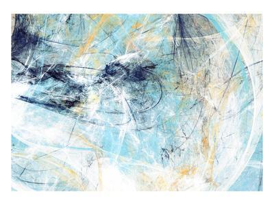 Abstract Beautiful Blue and White Soft Color Background. Dynamic Painting Texture. Modern Futuristi