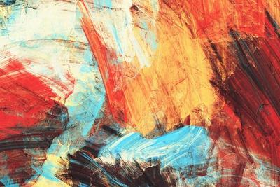 Bright Artistic Splashes on White. Abstract Painting Color Texture. Modern Futuristic Pattern. Mult