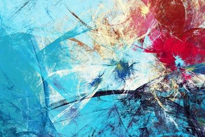 Winter Morning. Cold Blue Winter Pattern with Lighting Effect. Abstract Painting Soft Color Texture