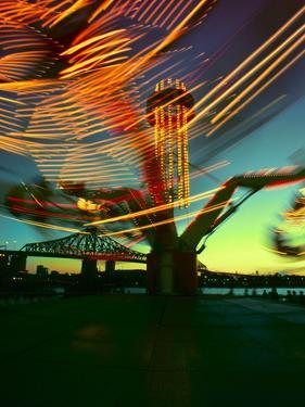 Exciting Blurred Lights from the Carnival