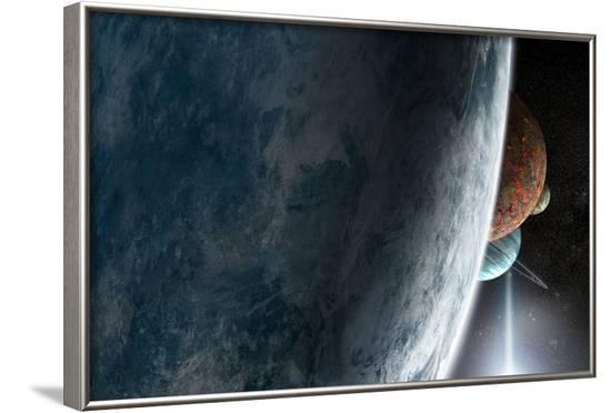 Exoplanets--Framed Photographic Print