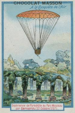 Experimenting with Parachuting at Parc Monceau by Andre-Jacques Garnerin