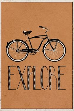 Explore Retro Bicycle Player Plastic Sign