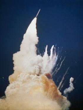 Explosion of Challenger Space Shuttle, 1986
