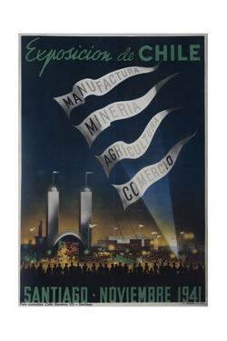 Exposition of Chile 1941 Fair Poster
