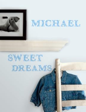 Express Yourself Blue Peel & Stick Wall Decals