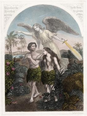 Expulsion of Adam and Eve from the Garden of Eden, C1860