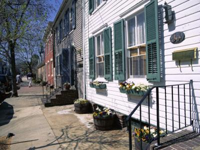 Exterior of Houses on a Typical Street, Annapolis, Maryland, USA by I Vanderharst