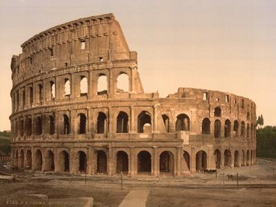 Exterior of the Coliseum, Rome, Italy, c.1890-c.1900