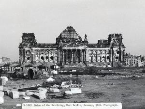 Exterior View of Ruins at the Reichstag in West Berlin