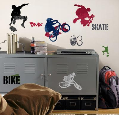 Exceptionnel Extreme Sports Peel U0026 Stick Wall Decals