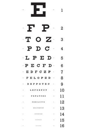 Eye Chart 16-Line Reference