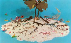 Eyeglasses on Simulated Desert Island