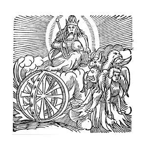 Ezekiel's Vision of Chariot in Sky, C614 BC