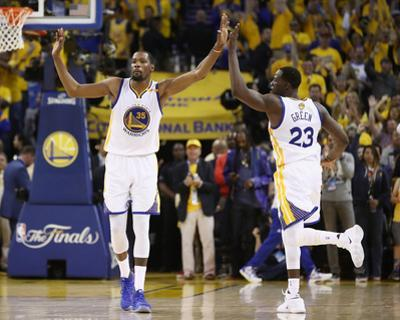 2017 NBA Finals - Game Five: Kevin Durant and Draymond Green by Ezra Shaw