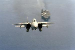 F-14 Tomcat Fighter after Takes Off from USS America, 1984