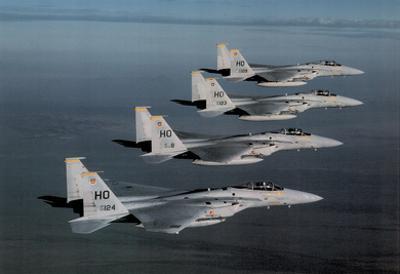 F-15 Eagles (In Air) Art Poster Print