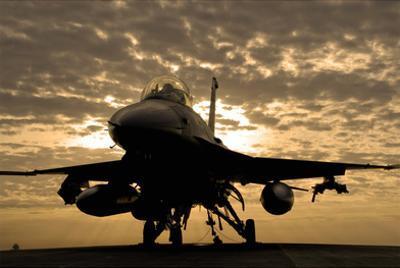 F-16C Fighting Falcon (Sunrise) Art Poster Print