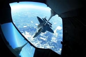 F-22 Raptor (Refueling, from Above) Art Poster Print